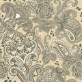 Indian motive. Ethnic ornamental wallpaper. Big decorative flowers