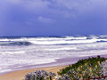 Indian ocean storm a spring over the off the south african coastline Royalty Free Stock Photo