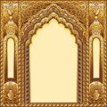 Indian ornamented arch. Color gold