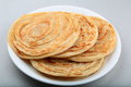 Indian paratha multi layered flat bread popular in asia Royalty Free Stock Images