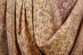 Indian pashmina shawl with traditional pattern Royalty Free Stock Photo