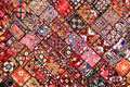 Indian patchwork carpet Royalty Free Stock Photo