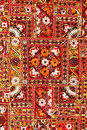 Indian patchwork carpet Stock Images