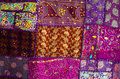Indian patchwork quilt a colourful Stock Images