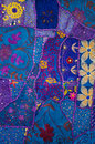 Indian patchwork quilt a colourful Royalty Free Stock Image