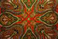 Indian pattern fabric Royalty Free Stock Photo