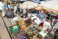 Indian people bargain and buy at delhi india oct the jama mashid bazaar on october in new delhi india the jama mashid market is Royalty Free Stock Photo