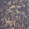 Indian petroglyph Stock Images