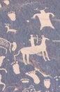 Indian petroglyph in newspaper rock utah Stock Images
