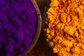 Indian pigments Stock Photo