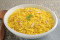 Indian Pilau Rice with Almonds Stock Images