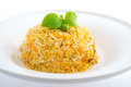 Indian plain biryani rice on plate Stock Photo