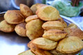 Indian poori hot fried bread Stock Photos