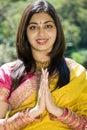 Indian prayer Stock Photography