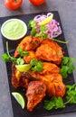 Tandoori chicken starter Royalty Free Stock Photo