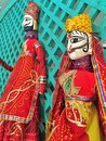 Indian puppets colorful entertainment ethnic fair Stock Image