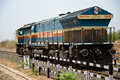 Indian railway engine railways diesel on tracks Stock Photography