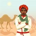 indian rajasthani cameleer man