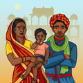 Indian rajasthani family