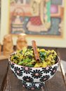 Indian rice khichdi to bowl Royalty Free Stock Images