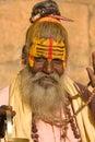 Indian sadhu holy man jaisalmer rajasthan india Royalty Free Stock Photo