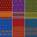 Indian Sari Design Stock Photo