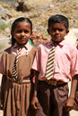 Indian schoolchildren Royalty Free Stock Photography