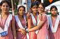 Indian schoolgirls Stock Photography