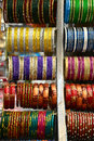 Indian shop selling bangles colorful from india Stock Image