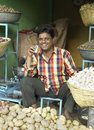 Indian Shopkeeper - Jaipur - India Stock Image