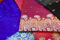 Indian silk saree traditional from varanasi Stock Photography