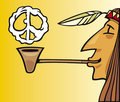 Indian smoking pipe of peace Royalty Free Stock Image