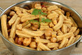 Indian snack mix asian food gathia Royalty Free Stock Photos