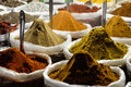 Indian spice for sale at market stall Royalty Free Stock Image
