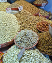 Indian spices and dry fruits mix of Royalty Free Stock Photo