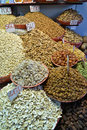 Indian spices and dry fruits mix of Royalty Free Stock Photos