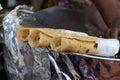 Indian street food kathi rolls beautiful shot of Stock Photography