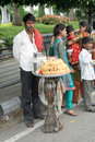 Indian street food vendor Royalty Free Stock Photography