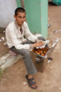 Indian street food vendor Royalty Free Stock Photo