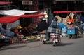 Indian Street market in La Paz, Bolivia