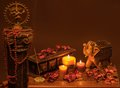Indian style still life Royalty Free Stock Photo