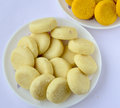 Indian sweet peda prepared out of milk product sugar and aromatic ingredients Stock Photos