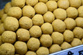 Indian sweets besan laddo these are from india prepared out of milk product sugar and aromatic ingredients Royalty Free Stock Image