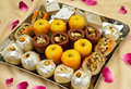 Indian sweets mithai these are from india prepared out of milk product sugar and aromatic ingredients Stock Images
