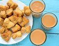 Indian tea with spices masala chai Royalty Free Stock Photos