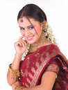 Indian teenage girl with jewels Stock Images