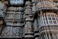 Indian temple architecture hindu carvings maru gurjara rajasthani originated somewhere in Stock Photo