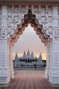 Indian temple hindu with beautifully decorated arches and decorative styles Stock Photography