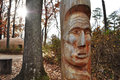 Indian totem pole an image of an at the jamestown settlement williamsburg virginia Royalty Free Stock Photo