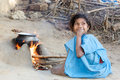 Indian tribal child in the village Stock Images